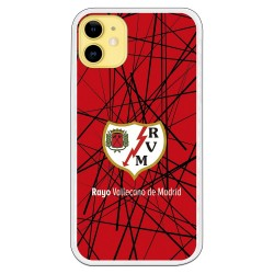 Funda escudo Rayo Vallecano fondo abstracto