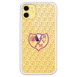 Funda Rayo Vallecano escudo rosa clear